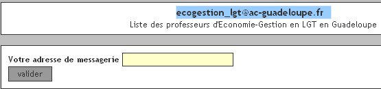 La liste de diffusion des professeurs economie gestion de for Liste de diffusion