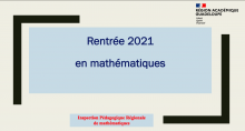rentrée maths 2021