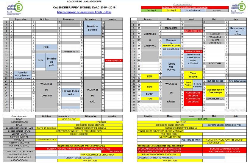 826561fb9d6 Calendrier prévisionnel de l action culturelle de l académie de la ...
