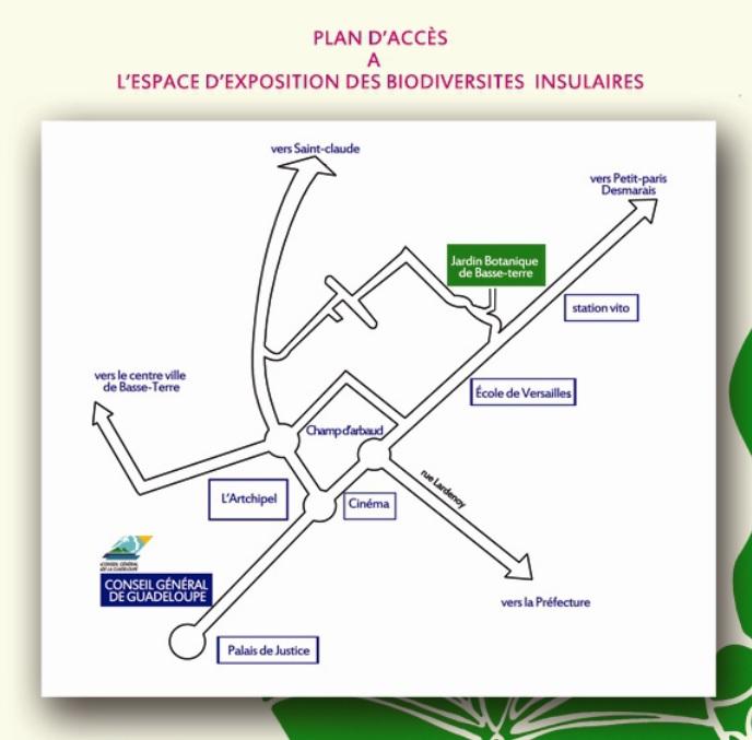 Plan d'accès au Jardin botanique