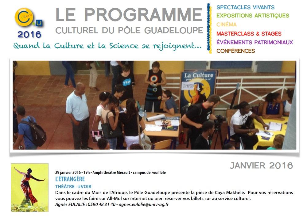 programme culturel de l'UA