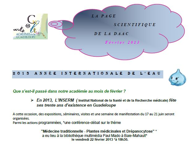 Page scientifique DAAC