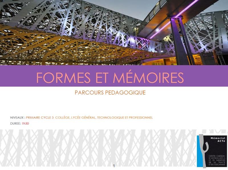 Formes et mémoires