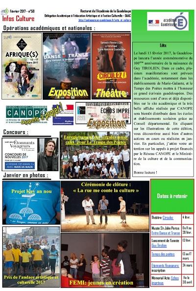 Infos Culture Février 2017