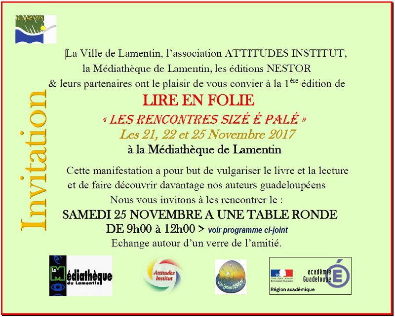 Invitation Lire en Folie 2017