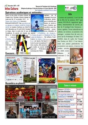 Lettre Infos Culture de décembre 2017
