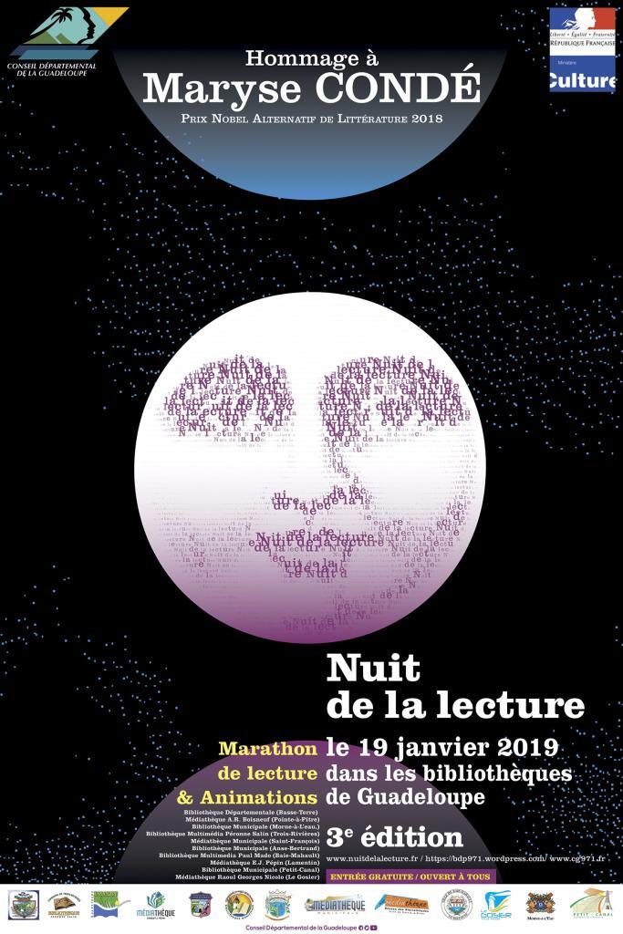 Affiche de la Nuit de la Lecture 2019