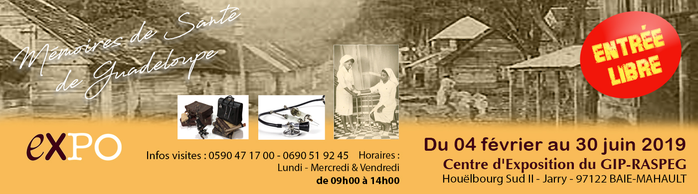 Bannière expo mémoire santé Guadeloupe