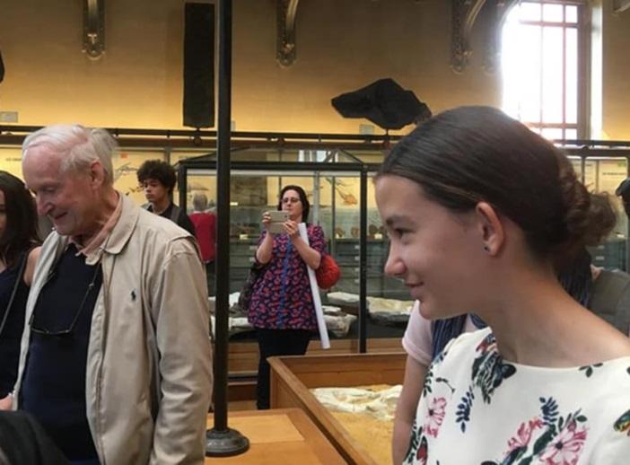 Maïwenn au muséum national d'histoire naturelle