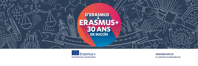 Logo 30 ans Erasmus+